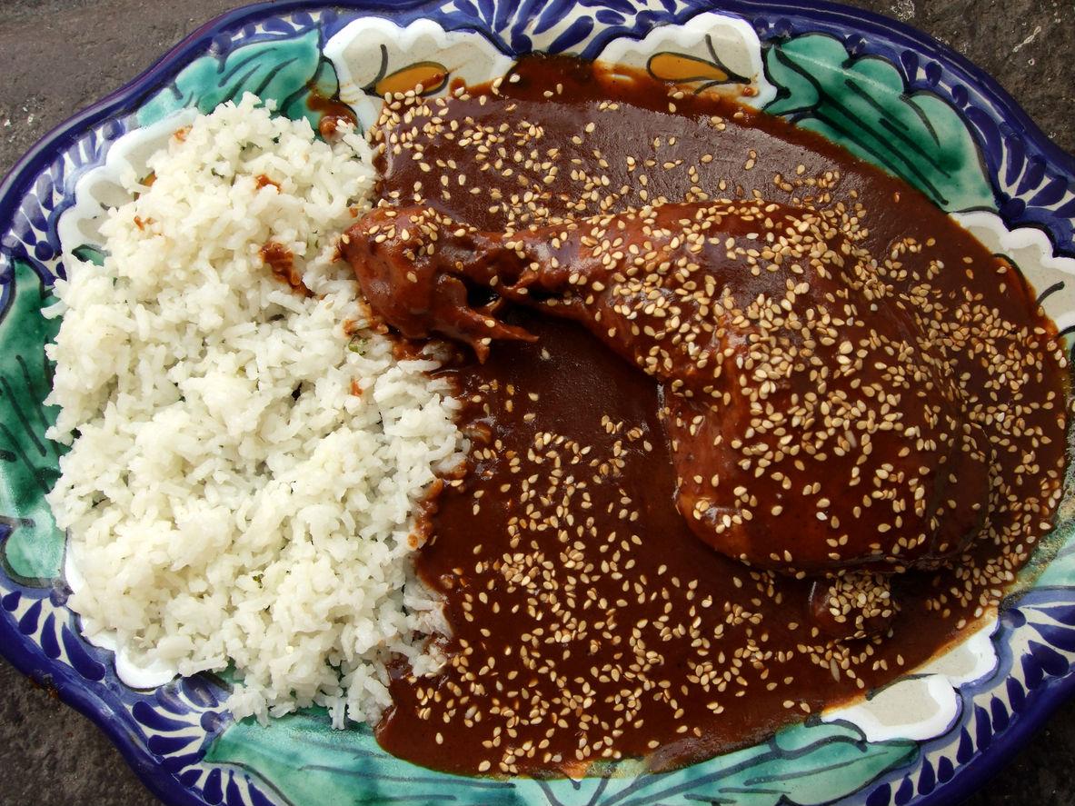 mole con pollo  CocinaDelirante