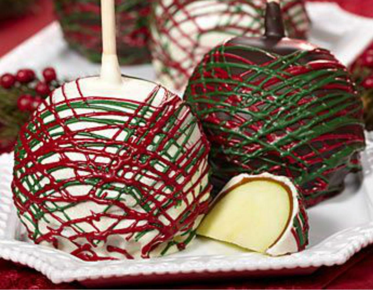 receta de como hacer manzanas cubiertas de chocolate