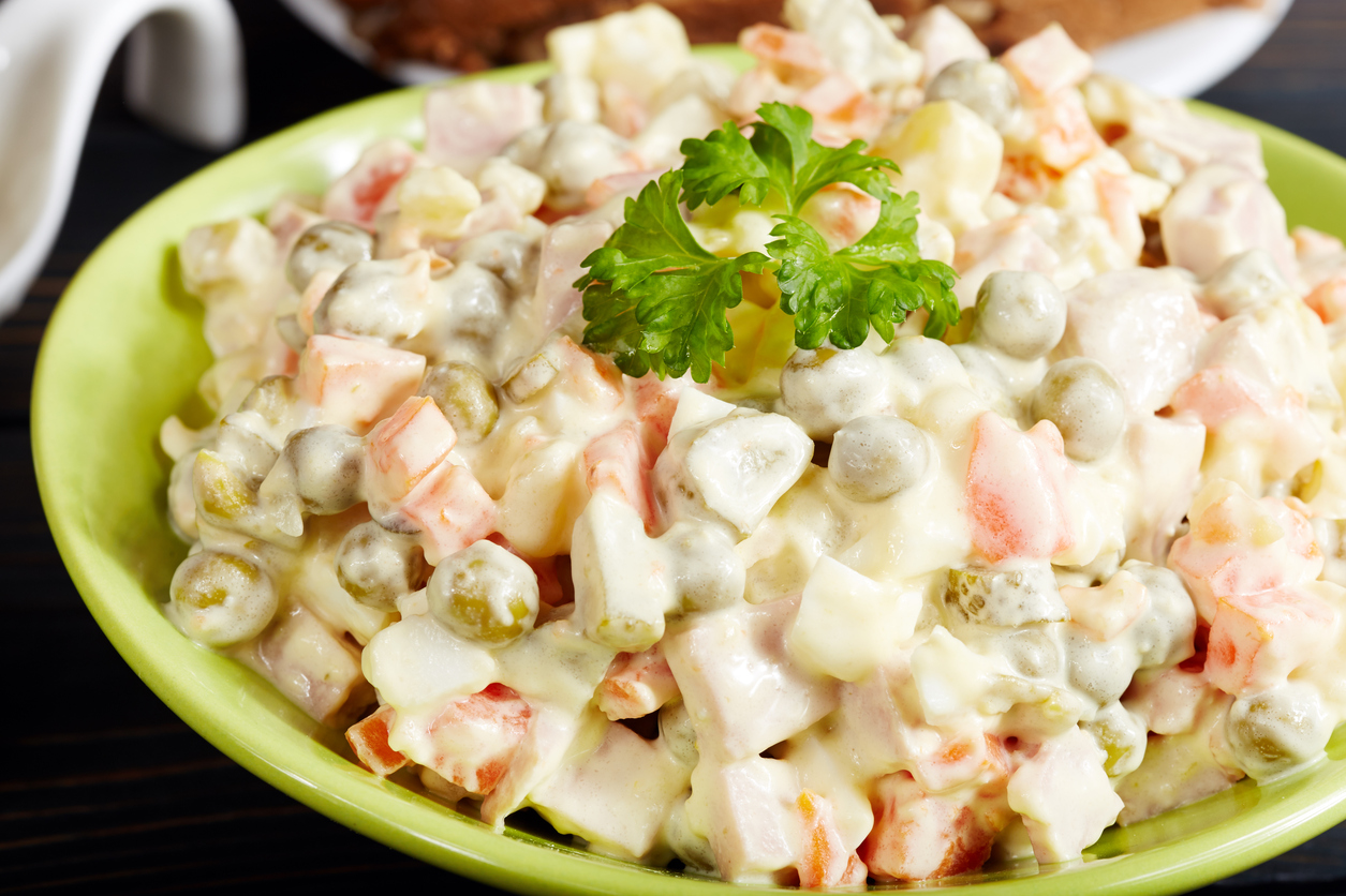 Receta facil de ensalada rusa