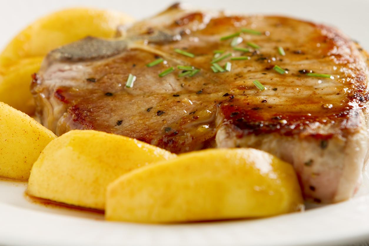 recetas de chuletas de cerdo con salsa de fruta