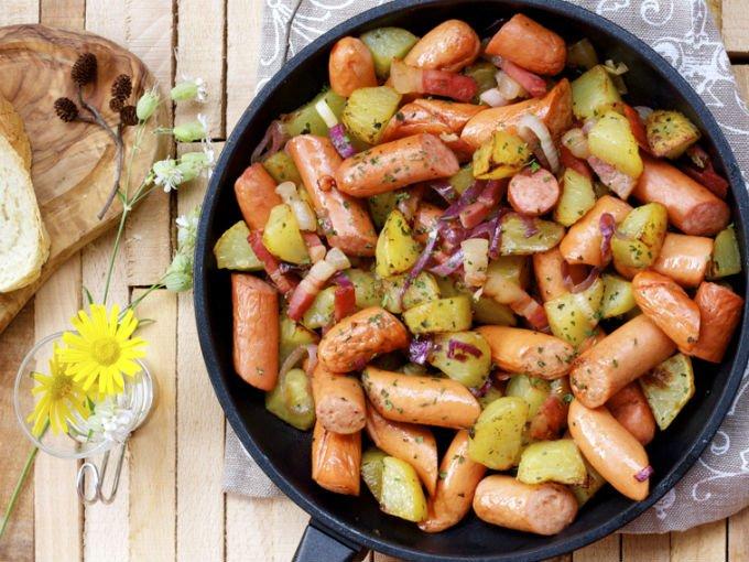 Resultado de imagen para Aprende a preparar una rica ensalada de salchichas