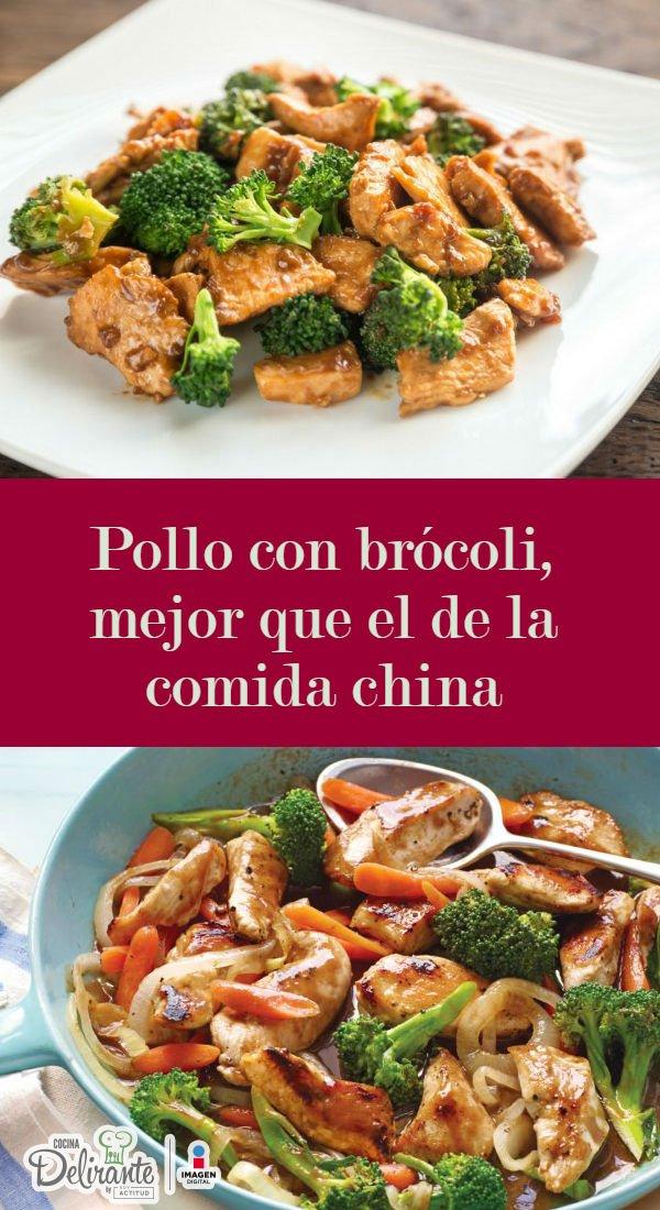 Pollo con brcoli de restaurante chino  CocinaDelirante