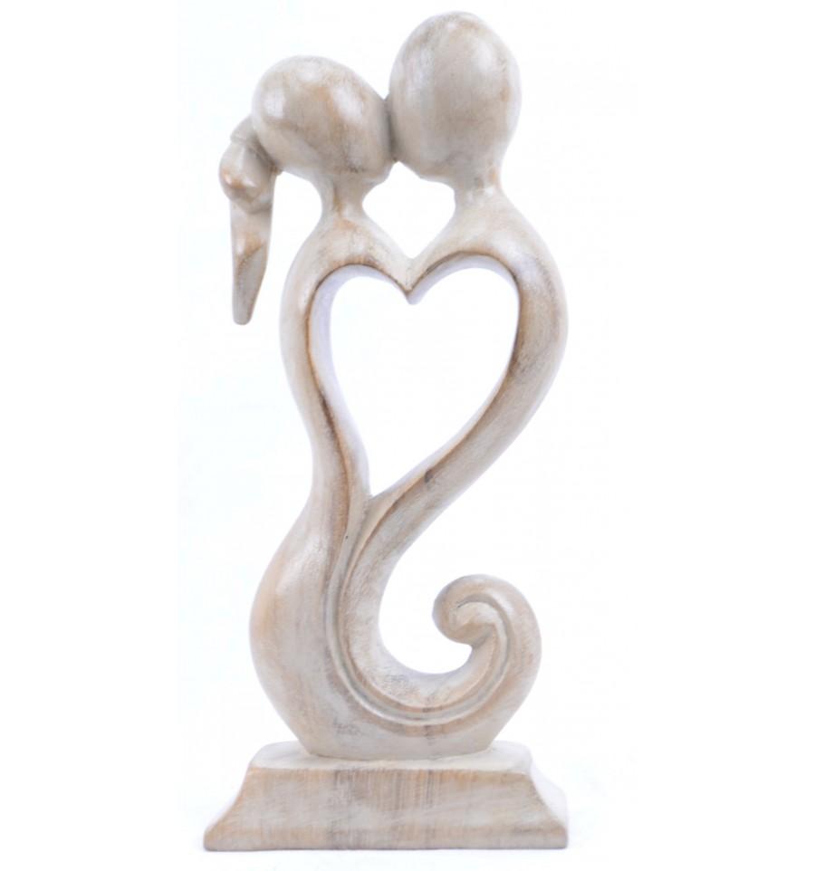 Achat Statuette Couple Amoureux En Bois Style Moderne Pas