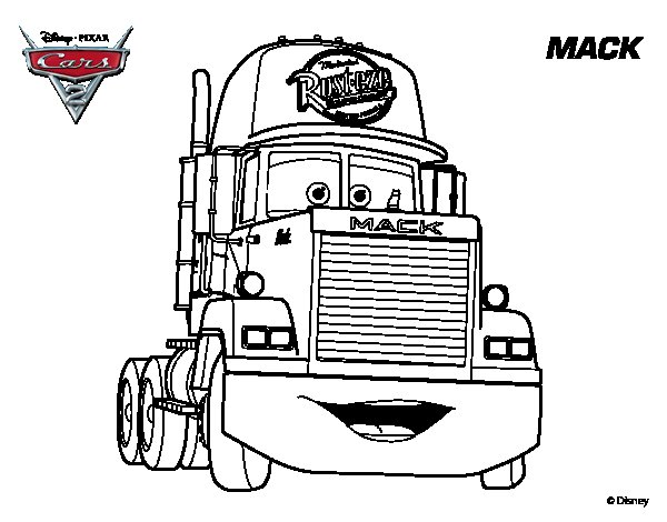 Free coloring pages of mackcars