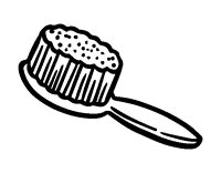 Hairbrush coloring page - Coloringcrew.com