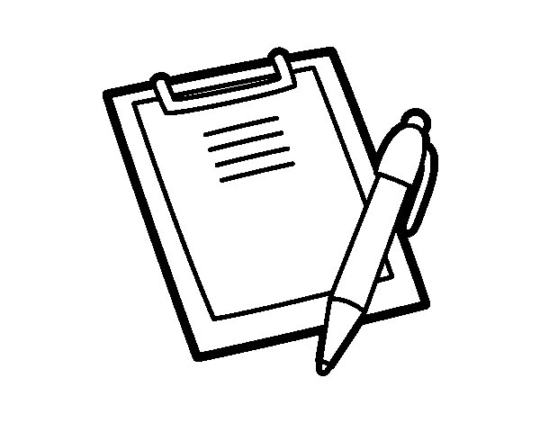 Homework Folder Coloring Page Coloring Pages