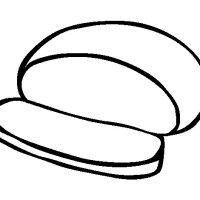 Round bread coloring page   Coloringcrew.com