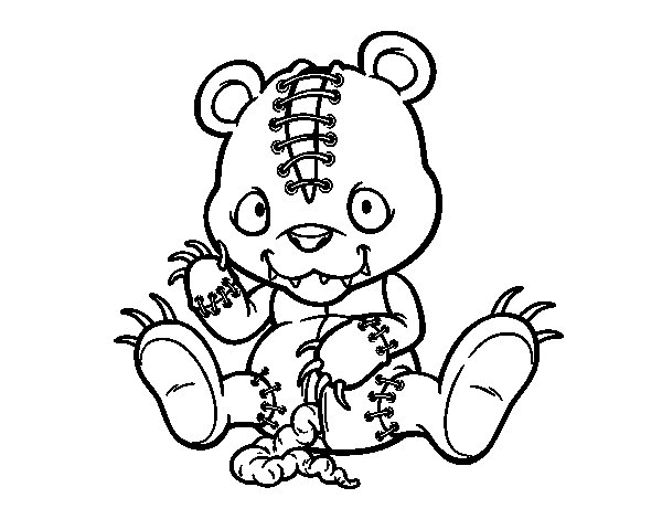 Evil Teddy Bear Coloring Coloring Pages