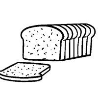 Sliced bread coloring page   Coloringcrew.com