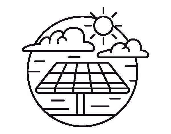 Solar Energy Coloring Pages Pictures to Pin on Pinterest