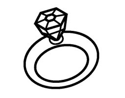 Wedding ring coloring page   Coloringcrew.com