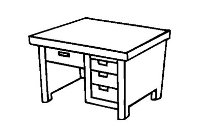Chair Desk Colouring Pages