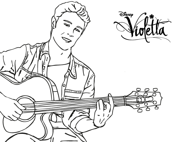 Printable Coloring Pages Of Violetta Sketch Coloring Page