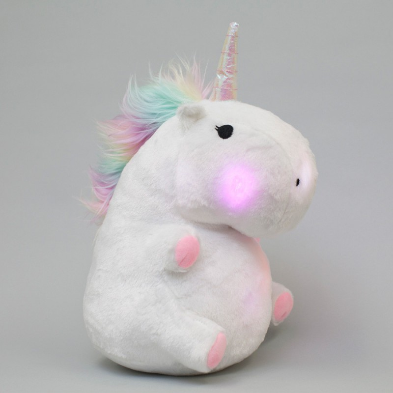 Coussin licorne lumineux