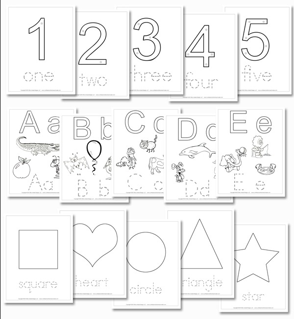 FREE Preschool Daily Learning Notebook Printables