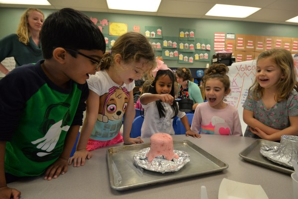 T. Week Volcano Experiments Prove Learning Fun