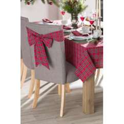 Tartan Dining Chair Covers For Sale Satin Walmart Dekoria Co Uk Sash 270x12cm