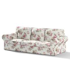 3 Seater Sofa Cover Italian Set Designs Ektorp Pink And Beige Roses Ivory