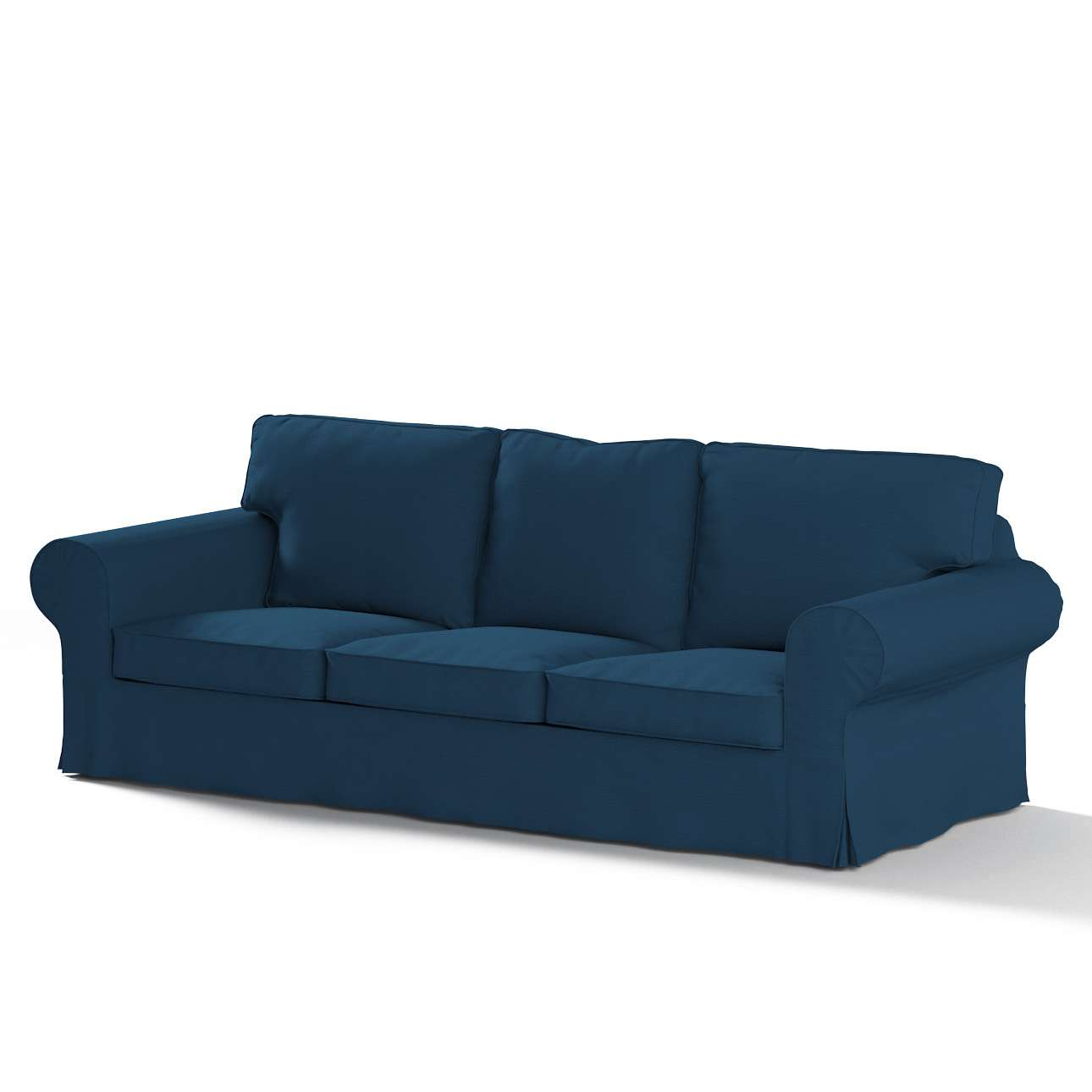 3 seater sofa cover converts to two single beds ektorp dark blue dekoria
