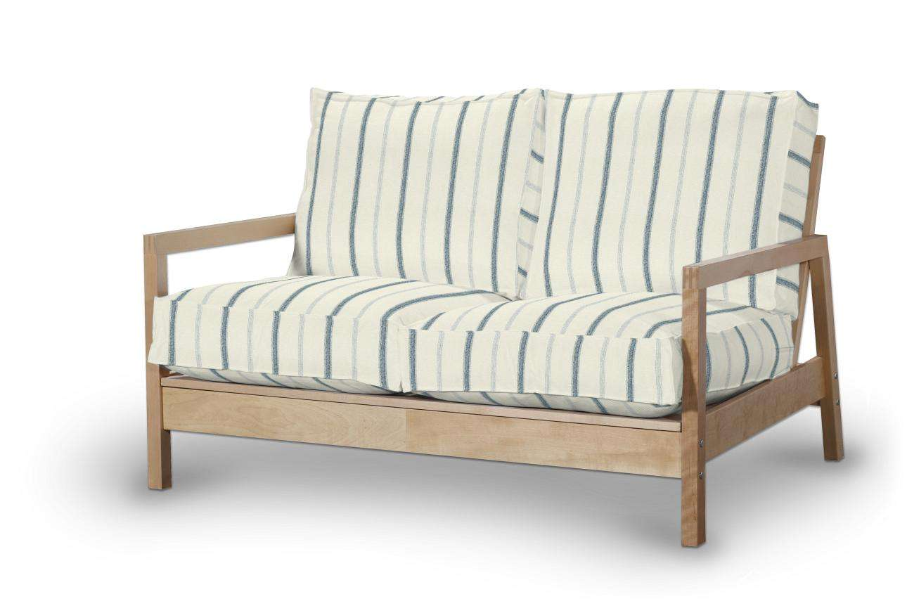 ivory sofa cover table white washed lillberg 2 seater blue stripes