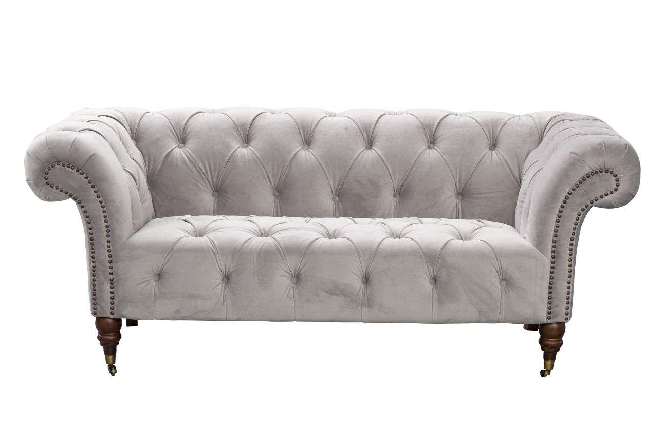 light grey chesterfield sofa hickory chair sofas price glamour velvet 2os dekoria