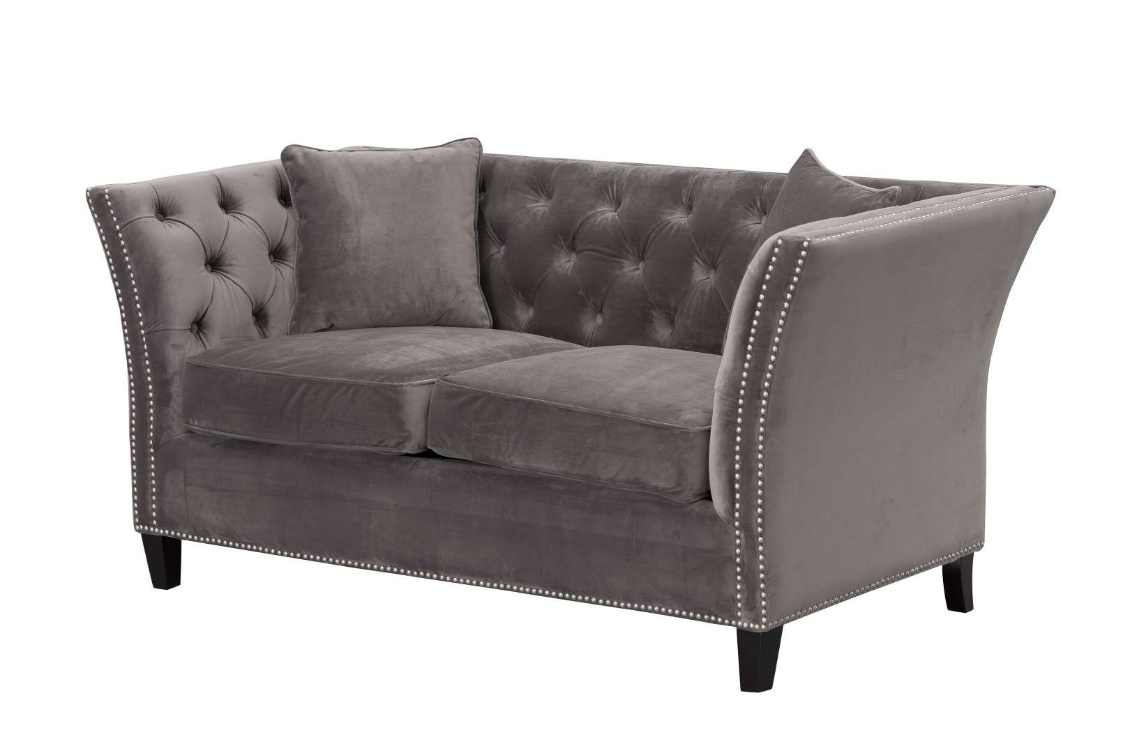 chesterfield sofa modern pillows on brown leather velvet dark grey 2 sitzer dekoria