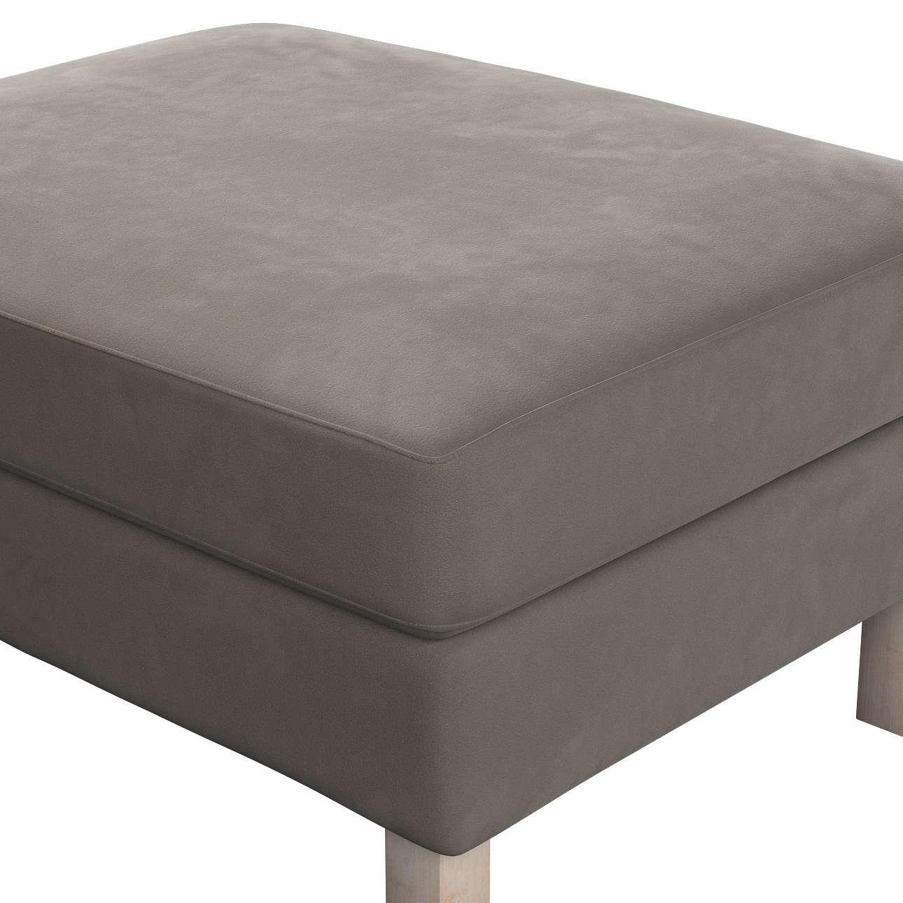 karlstad armchair cover uk smart chair electric wheelchair footstool grey beige dekoria