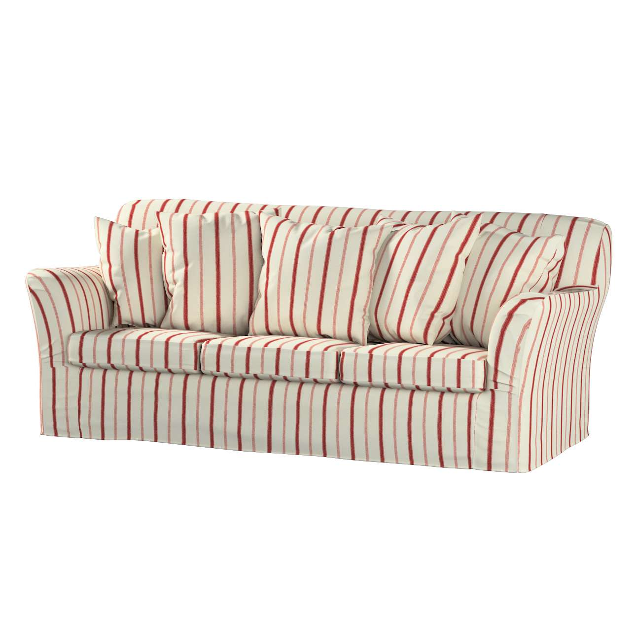 ivory sofa cover large indian throws tomelilla 3 seater red stripes