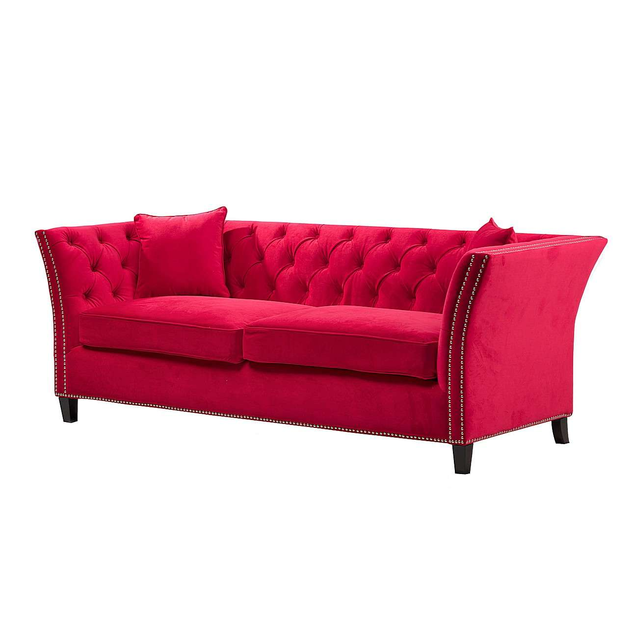chesterfield sofa modern red leather sectional sale velvet raspberry 3 os dekoria