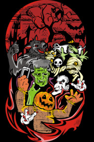 SELFIE T Shirt By Arace Halloween Monsters