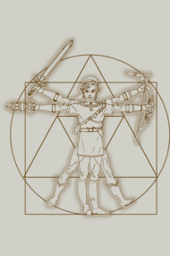 Vitruvian Link Shirt. The hero of hyrule, the hero of time. Link as the Leonardo Da Vinci's Vitruvian Man