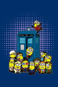 Minions in Time and Space Shirts. Oh no! the Minions have the Tardis.