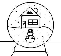 Dibujo de Bola de nieve para Colorear - Dibujos.net