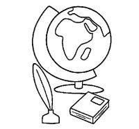 Dibujo de Bola del mundo para Colorear