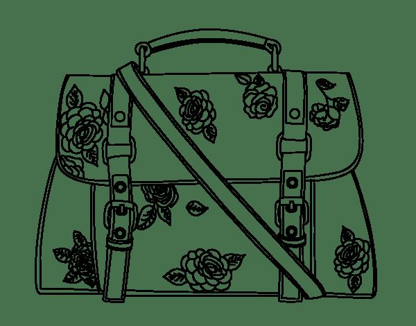 Imagenes de un bolso para colorear