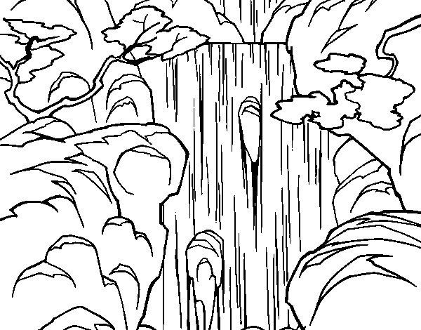 Dibujo De Cascada Para Colorear