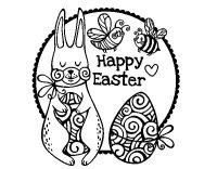 Dibujo de Happy Easter para Colorear - Dibujos.net
