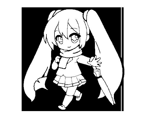 Dibujo De Hatsune Miku Para Colorear