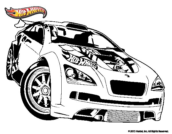 Carros Hot Wheels Para Colorear E Imprimir