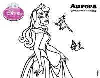 Dibujo de La Bella Durmiente - Aurora para Colorear ...