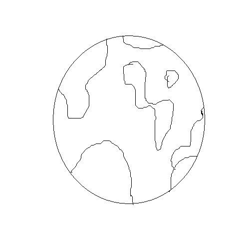 Dibujo bola del mundo para colorear