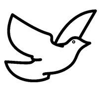 Dibujo de Paloma de la paz para Colorear - Dibujos.net