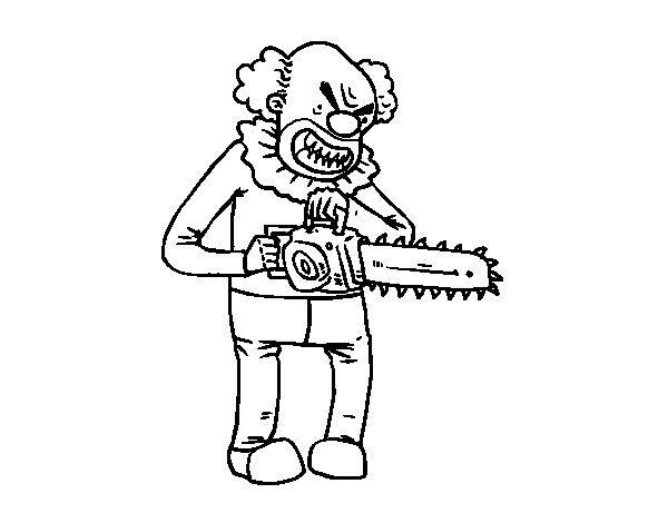 dibujos de payasos asesinos dibujo de payaso asesino para