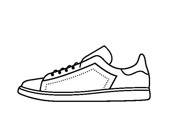 √ Dibujos Para Colorear Zapatillas | Dibujos zapatillas
