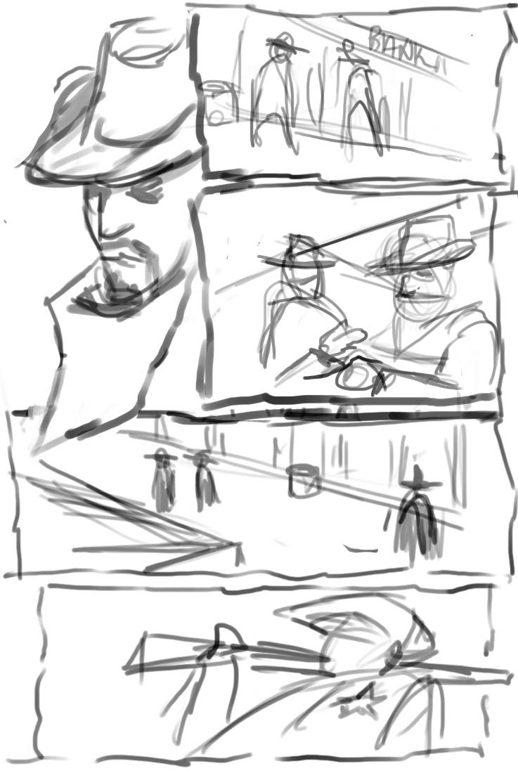 Painter tutorial: Create a digital comic, from sketch to
