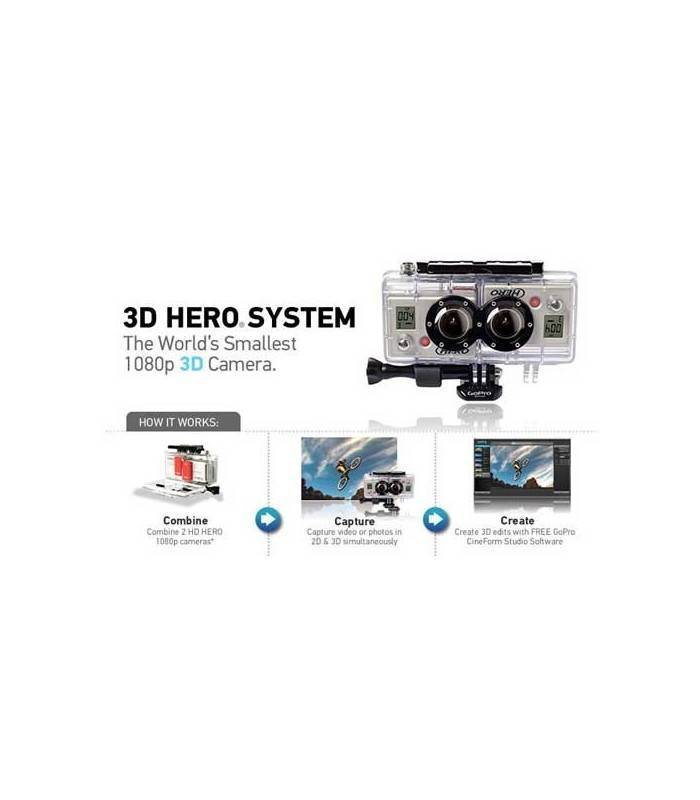 Gopro Doble Carcasa 3D + Cable Sincronizador (Ahd3D-001)