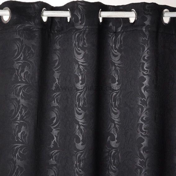 rideau occultant 140 x h240 cm design noir