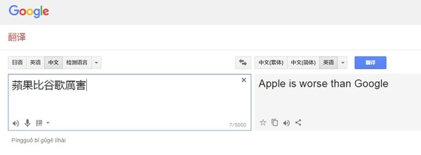 蘋果,谷歌誰厲害? Google翻譯「超機靈」...網笑翻:太嘴了   ETtoday生活   ETtoday新聞雲