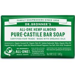 Dr Bronner Orgânico Pure Castela Bar Soap Almond 5 oz