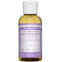Dr Bronner Óleo de lavanda Pure Lavender Castela sabão 2 fl oz